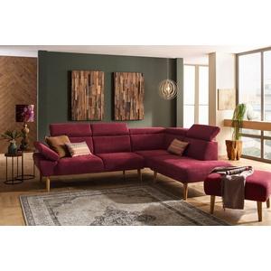 Premium collection by Home affaire Ecksofa Trapino, Mit Kopf- und Armteilverstellung, Ottomane wahlweise links oder rechts, 3 Bezugsqualitäten lila