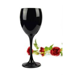 Sendez Weinglas 6 Weingläser Set 300ml Schwarze Rotweingläser Weißweingläser Weinkelch