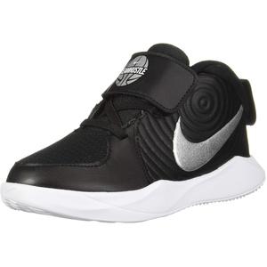 Nike Jungen Unisex Kinder Team Hustle D 9 (td) Basketballschuhe, Mehrfarbig (Black/Metallic Silver/Wolf Grey/White 000), 23.5 EU