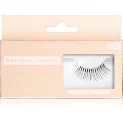 Makeup Revolution False Lashes Natural Klebewimpern + Kleber 1 ml NO.1 Secret