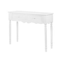 elbmöbel Konsolentisch Konsolentisch Holz weiß Schubladen, Schreibtisch: 2 Schubladen 98x78x34 cm weiß Vintage Look