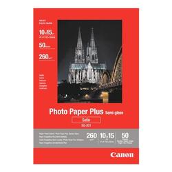Fotopapier »Plus-Semigloss 10x15 cm« weiß, Canon