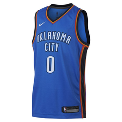 Russell Westbrook Oklahoma City Thunder Nike Icon Edition Swingman NBA-Trikot für ältere Kinder - Blau, size: M