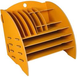 WERKHAUS® Briefablage Werkhaus - Ablage Big Organizer Gelb Briefablage Stiftehalter Schreibtisch