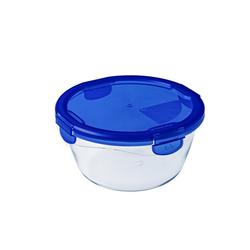 Pyrex Glasdose Cook & Go, rund, 0,7 l, 15 x 8 cm