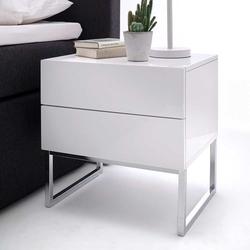 Nachttischkommode in Weiß 50 cm