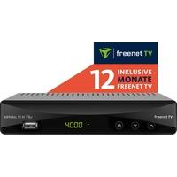 DigitalBox DVB-T2 HD Receiver mit Irdeto Entschlüsselung (inkl. 12 Monate Freenet TV, H.265/HEVC, PVR Ready, HDMI, Scart, USB, LAN) schwarz, 77-560-00-12