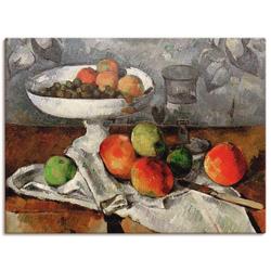 Artland Wandbild Stillleben mit Obstschale, Arrangements (1 Stück) 60 cm x 45 cm