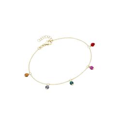 Luigi Merano Armband mit farbigen Kristallsteinkugeln, Gold 375