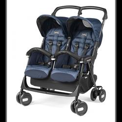 Twin Kinderwagen Peg Perego Aria Twin Shopper Indigo