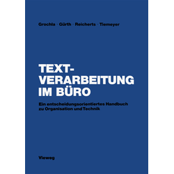 Textverarbeitung im Büro als Buch von Erwin Grochla