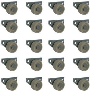 20 Stück 30 mm Kastenrollen Bettkastenrollen Kastenbockrollen Seitenrollen