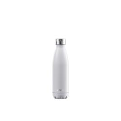 FLSK Isolierflasche, FLSK Trinkflasche Isolierflasche Edelstahl 500ml Doppelwandig Thermoflasche weiß