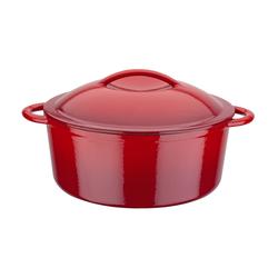 GSW Gusseisen Kochtopf 24 cm - 4,0 Liter RED SHADOW