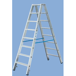 Stufen Doppelleiter 2 x 3 Stufen Leiter Alu