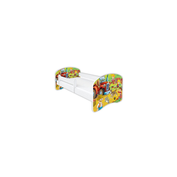 Clamaro Kinderbett (Kinderbett Babybett Jugend, Gitterbett mit Matratze, Schlummerland 2021 Clamaro)