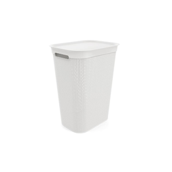 Rotho Wäschesammler Brisen in weiß, 50 l