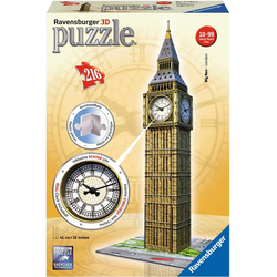 Ravensburger 3D-Puzzle Big Ben mit Uhr, 216 Puzzleteile, Made in Europe