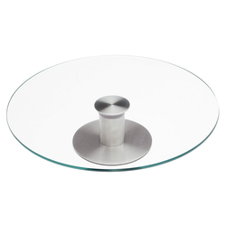 CHG Tortenplatte, Edelstahl, Glas, drehbar, 30 cm