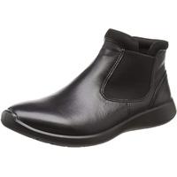 ECCO Soft 5 Chelsea Boots, Schwarz (Black/Black), 36