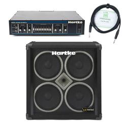 Hartke VX 410 Bassbox SET inkl. HA 3500 Topteil + Boxenkabel