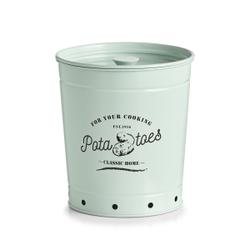 Zeller Kartoffel Vorratsdose, Aufbewahrungsdose aus Metall, Maße: ca. Ø 16-19,7 x 21,5 cm, mint