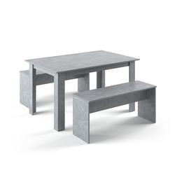 Vicco Essgruppe Tischgruppe Sitzgruppe Holztisch Esstisch Holz Tisch Beton