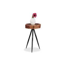 relaxdays Beistelltisch Design Beistelltisch Holzscheibe