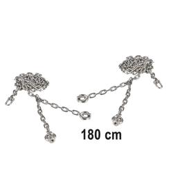 JustFun Einzelschaukel Schaukelkette für Schaukelsitz Schaukel Kette, Kettenset, Edelstahl, Schaukelkette, 1,80m silberfarben 180 cm x 0,5 cm x 0,5 cm