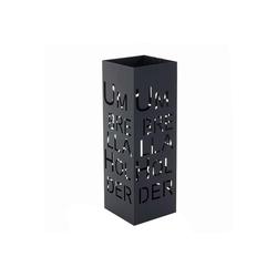 MCW Schirmständer MCW-C78 (1 Stück), Zwei Haken für Taschenschirme, quadratisch schwarz