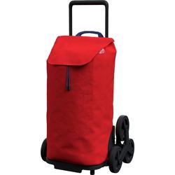 Gimi Einkaufstrolley gimi Tris, 52 l, mit 3-Rollen-System für leichtes Treppensteigen rot