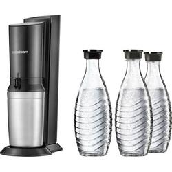 Sodastream Wassersprudler Crystal 2.0 Promopack Titan und 1 CO2-Zylinder, inkl. 3 Glaskaraffen
