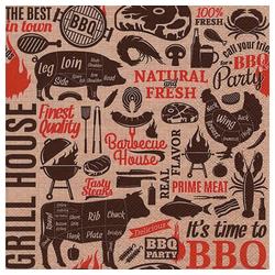 Linoows Papierserviette 20 Servietten, Grill House, BBQ Party, Barbecue, Motiv Grill House, BBQ Party, Barbecue Motive