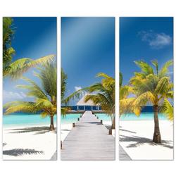 Wall-Art Mehrteilige Bilder Der Weg ins Paradies (3-teilig), (Set, 3 Stück)