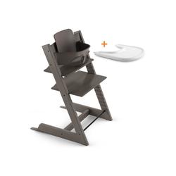 Stokke Hochstuhl TRIPP TRAPP® Sonderaktion - Set bestehend aus TRIPP TRAPP® Stuhl, Baby Set und STOKKE® TRAY grau