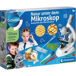 Clementoni® Galileo - Natur unter dem Mikroskop Kindermikroskop (0x-600x)