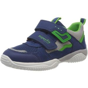 Superfit Jungen Storm Sneaker, (Blau/Grün 81), 25 EU