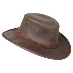Barmah Hats Lederhut braun S