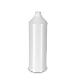 1000 ml Rundflasche PCR HDPE - natur - DIN 28