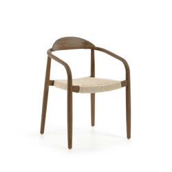 Holzstühle in Walnussfarben Armlehnen (4er Set)