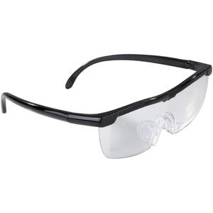 Easymaxx Vergrößerungsbrille, schwarz, inklusive Aufbewahrungsbeutel
