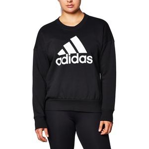 adidas Damen W BOS CREWSWEAT Sweatshirt, Schwarz, XS