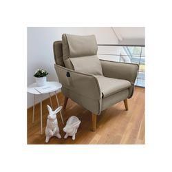 Sesselschoner, PLACE TO BE., Sesselschonbezug für Relaxsessel Insideout natur