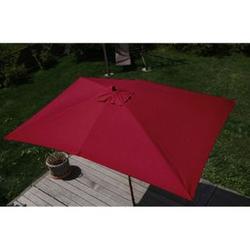 Sonnenschirm Lissabon, Gartenschirm Marktschirm, 2x3m Polyester/Holz 6kg ~ bordeaux