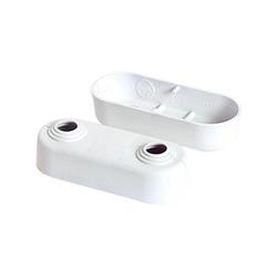 Heizkörper Doppelrosette weiß Rohr Ø 10,12,15,18 mm VPE 10 Stück