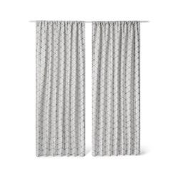 2 Vorhangschals - Tchibo - Weiß - Leinen