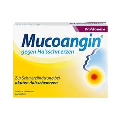 MUCOANGIN Waldbeere 20 mg Lutschtabletten 18 St