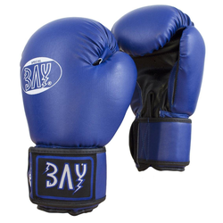 BAY-Sports Boxhandschuhe Future Box-Handschuhe blau Boxen Kickboxen 10 Unzen