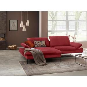 W.SCHILLIG Ecksofa enjoy&MORE, mit Sitztiefenverstellung, Füße schwarz pulverbeschichtet, Breite 294 cm rot