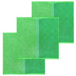 Lashuma Handtuch Set (Set, 3-tlg), Küchentücher Frottee, Geschirrtücher 50x50 cm grün